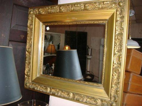 Ornate Art Nouveau Large Gold Gilt Frame Wall Mirror Vintage Regarding Art Nouveau Wall Mirrors (#19 of 20)