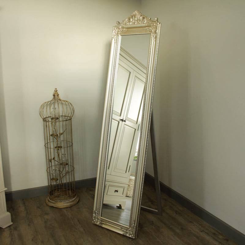 Ornate Champagne Cheval Mirror – Melody Maison® With Regard To Ornate Free Standing Mirrors (#21 of 30)