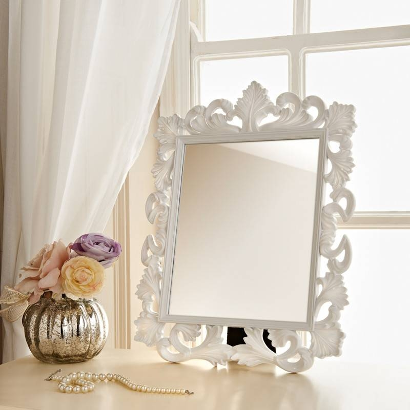 Ornate Dressing Table Mirror | Ornate Cheap Mirrors Regarding White Ornate Mirrors (#13 of 20)