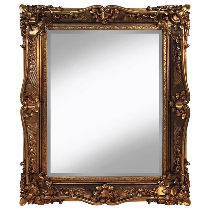 Ornate Framed Gold Mirror 110 X 135Cm Ornate Framed Gold Mirror For Gold Ornate Mirrors (#17 of 20)