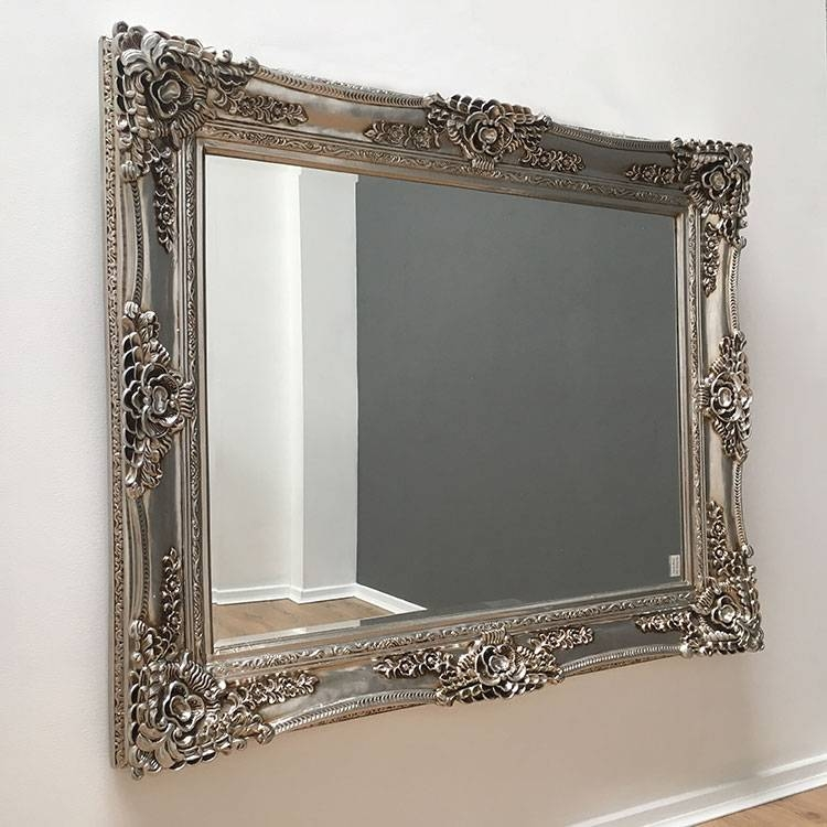 Ornate Framed Mirrors | Shabby Chic Mirrors | Exclusive Mirrors Inside Silver Ornate Mirrors (#13 of 30)