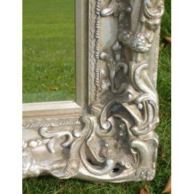 Ornate Full Length Silver Monaco Mirror  Ayers & Graces Online Intended For Ornate Full Length Mirrors (#17 of 20)