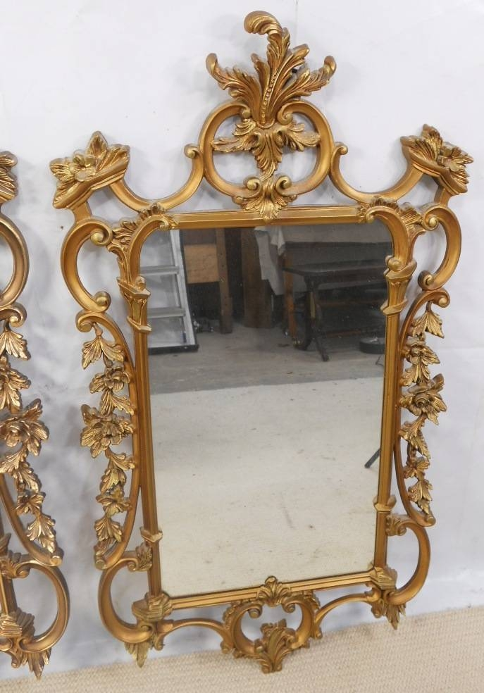 Ornate Gilt Framed Hanging Wall Mirrors – Sold Pertaining To Ornate Gilt Mirrors (#20 of 30)