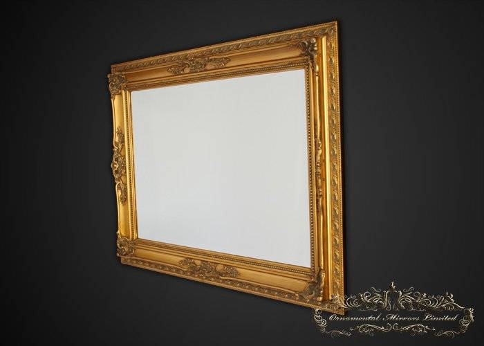 Ornate Gold Framed Mirror With Full Length Gold Mirrors (#25 of 30)