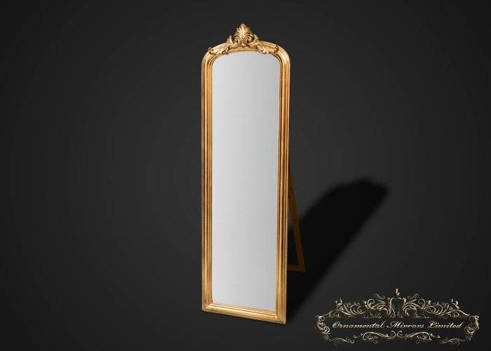 Ornate Gold Mirror With Stand From Ornamental Mirrors Limited In Gold Standing Mirrors (#24 of 30)
