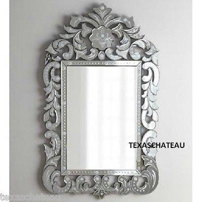 Ornate Large 56 ~ Antique French Venetian Style Wall Mirror Throughout French Style Wall Mirrors (#26 of 30)