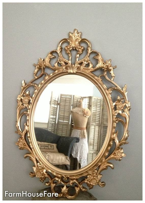 Ornate Mirrors Baroque Mirror Large Gold Wall Mirror Pertaining To Large Oval Wall Mirrors (#23 of 30)