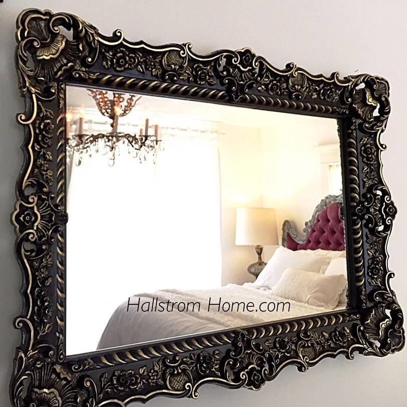 Ornate Mirrors Bring So Much Excitement To Home Decor ~ Hallstrom Home With Regard To Large Black Ornate Mirrors (View 29 of 30)