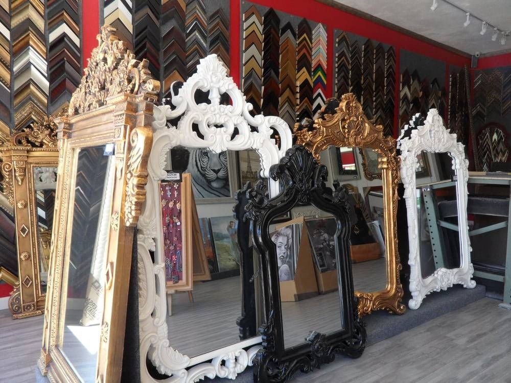 Ornate Mirrors In Black, White, Silver And Antique Gold Frames – Yelp In Boutique Mirrors (View 4 of 30)
