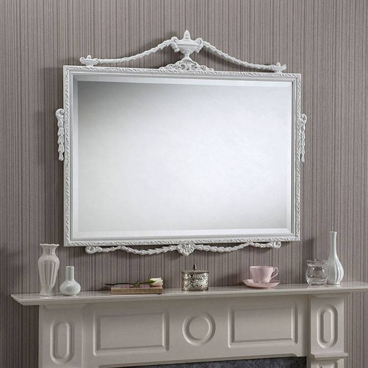 Inspiration about Ornate Overmantle Mirror White 96 X 81Cm Ornate Overmantle Mirror With Regard To White Overmantle Mirrors (#11 of 30)