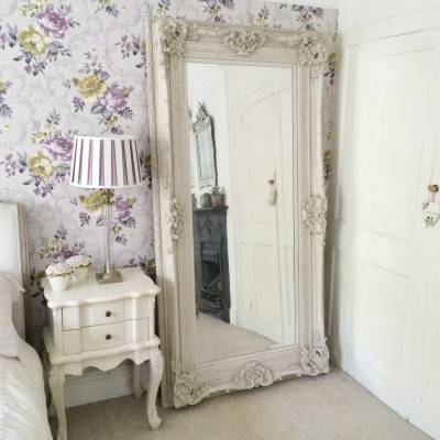 Ornate Shabby Chic Ivory Rococo Mirror – Ayers & Graces Online With Regard To Large White Rococo Mirrors (#22 of 30)