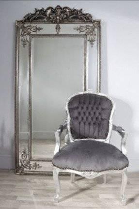Ornate Silver Bathroom Mirror (#29 of 30)