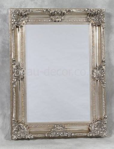 Ornate Silver Bathroom Mirror 21 Of 30