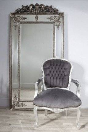 Ornate Silver Bathroom Mirror (View 6 of 20)
