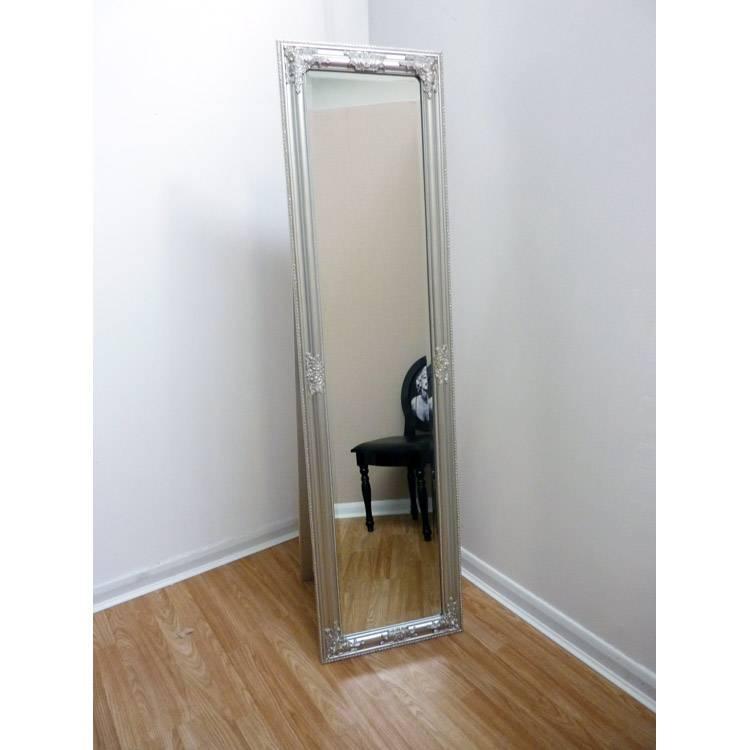 Ornate Silver Cheval Mirror 170 X 45 Cm Ornate Silver Cheval For Silver Cheval Mirrors (#16 of 20)