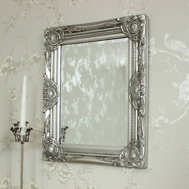 Ornate Silver Wall Mirror – Melody Maison® Pertaining To Ornate Silver Mirrors (View 2 of 20)