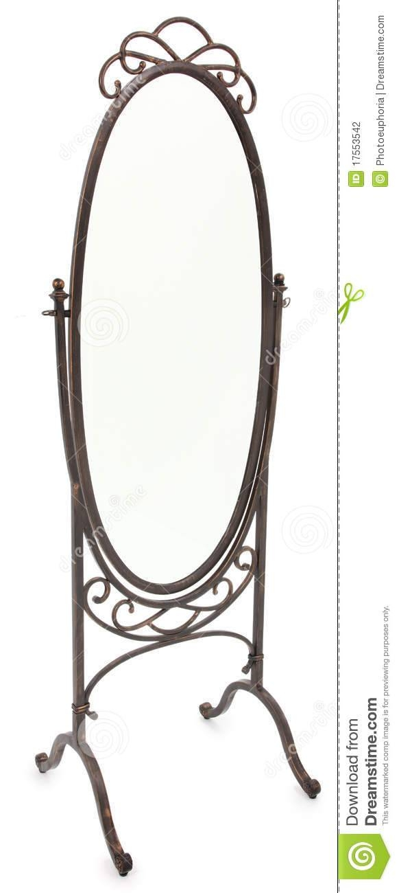 Ornate Standing Mirror Over White Stock Photography – Image: 17553542 With Ornate Free Standing Mirrors (#22 of 30)