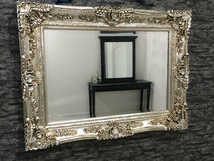 Popular Photo of Ornate Silver Mirrors