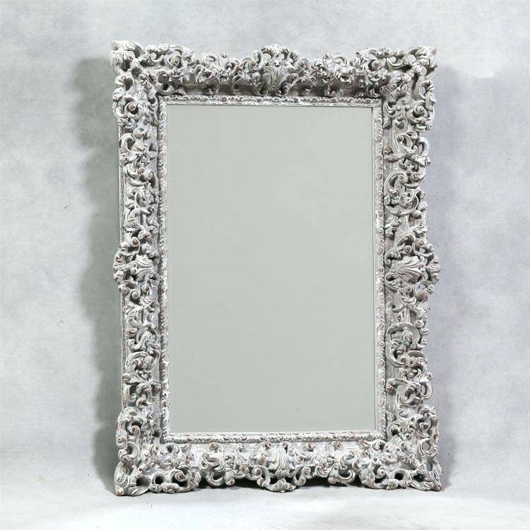 Ornate Swept Frame Silver Mirror 118X87Cmornate Gold Floor Large Pertaining To Large Black Ornate Mirrors (View 30 of 30)