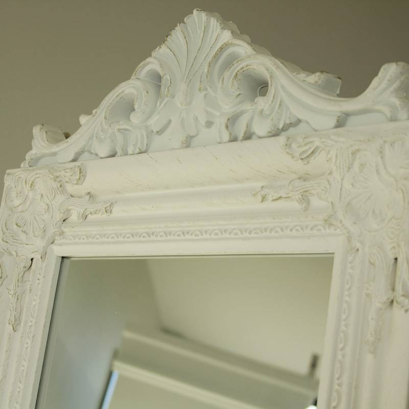Ornate White Freestanding Mirror – Melody Maison® Pertaining To Ornate Free Standing Mirrors (#25 of 30)