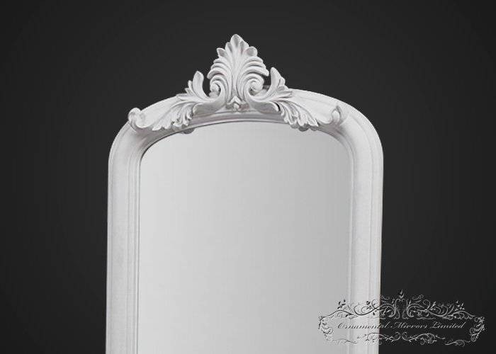 Ornate White Mirror With Stand From Ornamental Mirrors Limited Inside Ornate Free Standing Mirrors (#28 of 30)