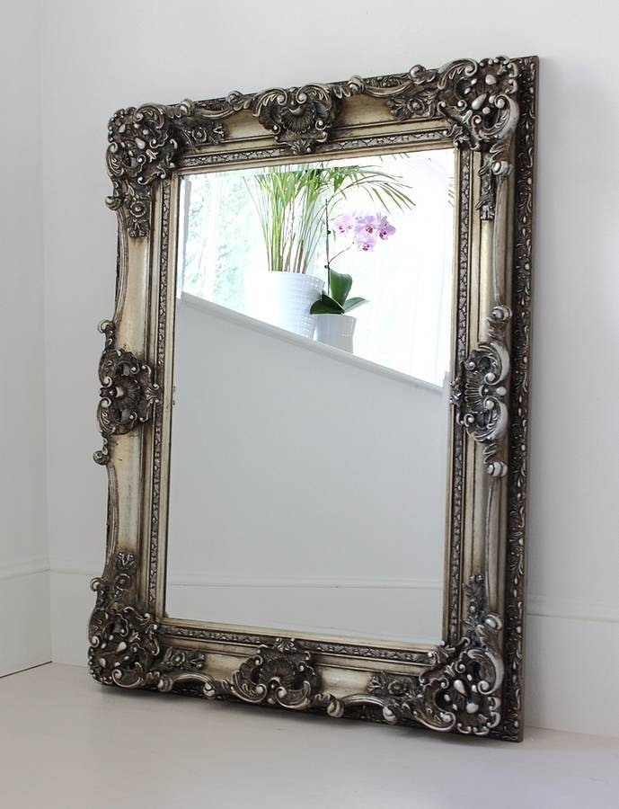Ornate Wooden Mirror In Four Coloursout There Interiors Pertaining To Ornate Silver Mirrors (View 15 of 20)