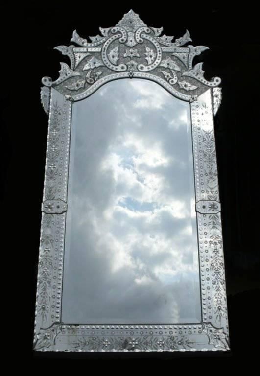 Ornately Detailed Antique Venetian Full Length Mirror At 1Stdibs In Full Length Antique Mirrors (#24 of 30)