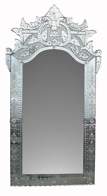 Ornately Detailed Antique Venetian Full Length Mirror At 1Stdibs Pertaining To Venetian Full Length Mirrors (#17 of 30)