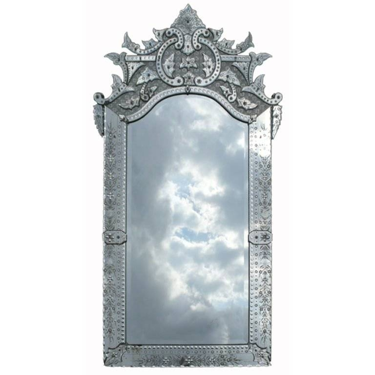 Ornately Detailed Antique Venetian Full Length Mirror At 1Stdibs With Regard To Full Length Antique Mirrors (#25 of 30)