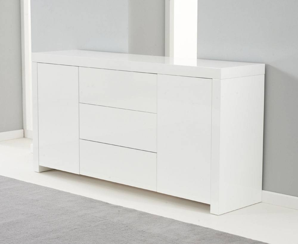 Ornella White High Gloss Sideboard In High Gloss Sideboard (#14 of 20)