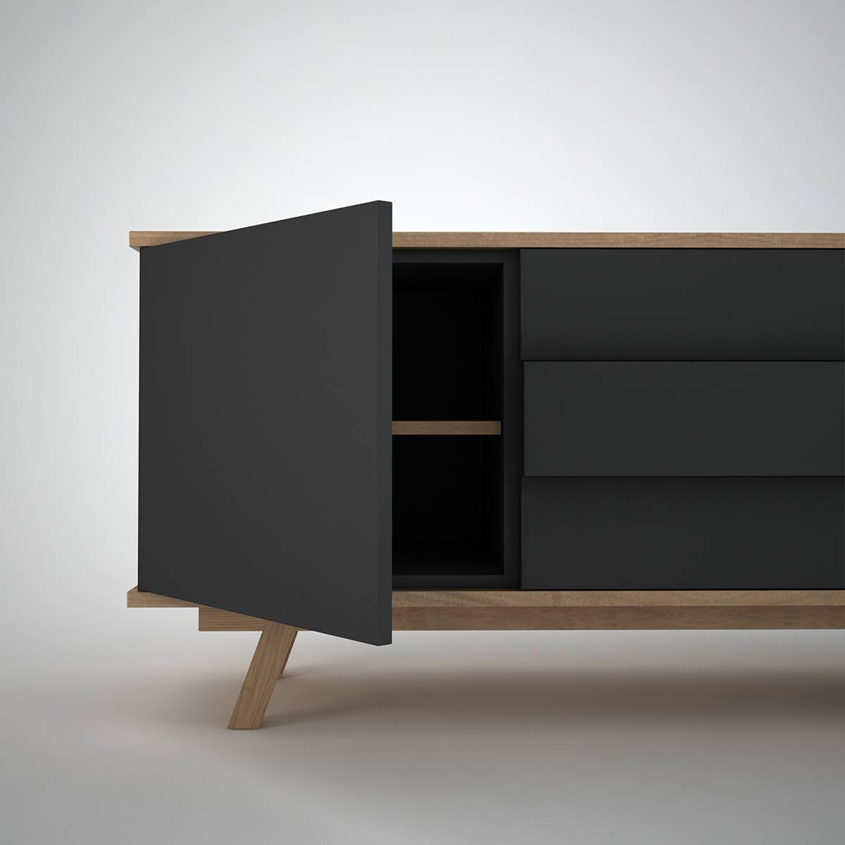 Ottawa Sideboard (2+3) Anthracite – Join Furniture In Sideboards Contemporary (View 8 of 20)
