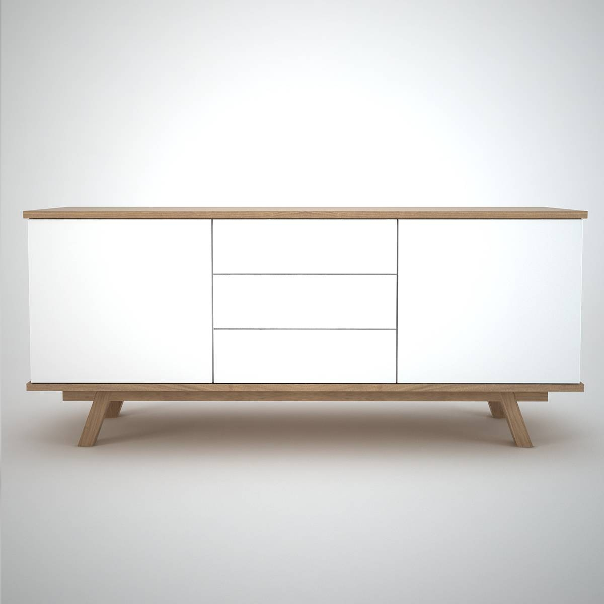 Ottawa Sideboard (2+3) White – Join Furniture Throughout White Wooden Sideboard (#13 of 20)