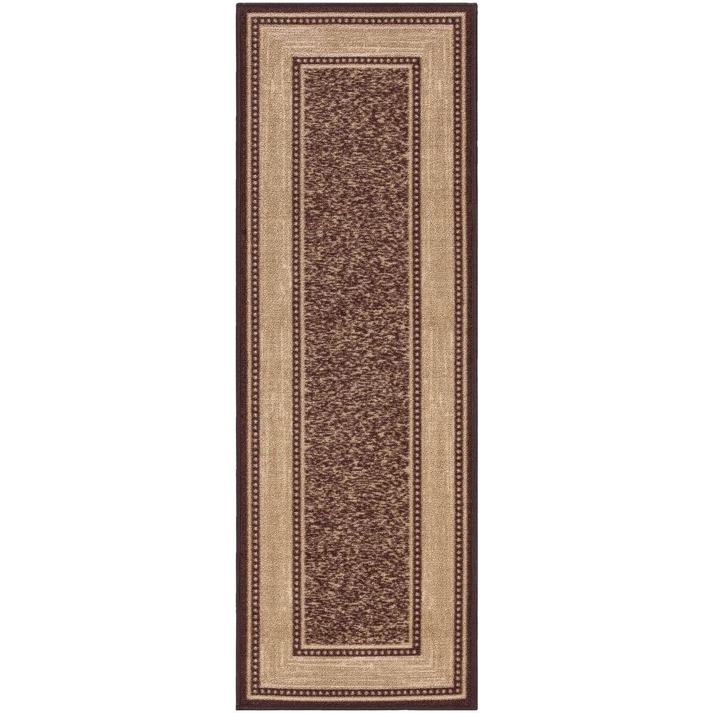 Ottomanson Ottohome Collection Contemporary Bordered Design Intended For Modern Runner Rugs For Hallway (View 17 of 20)