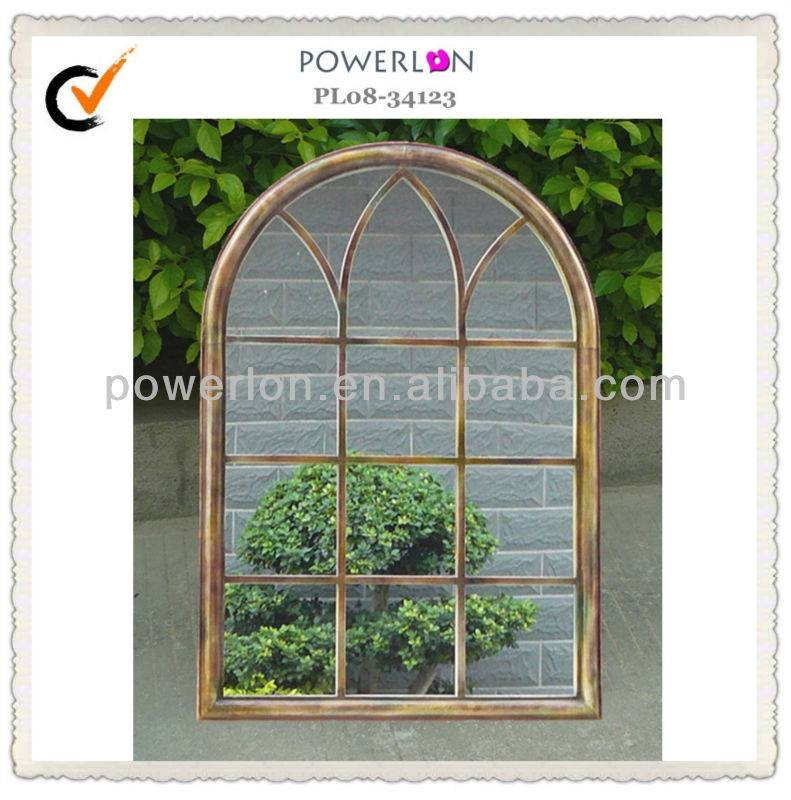 Outdoor Decorative Classical Metal Frame Wrought Iron Frame Garden Pertaining To Metal Garden Mirrors (#21 of 30)