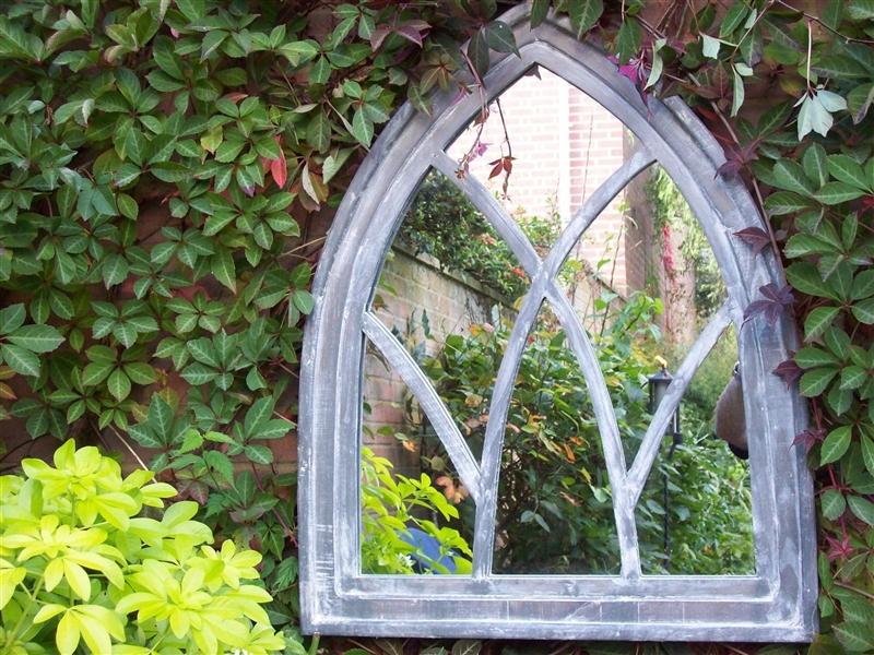 Outdoor Garden Wall Mirrors. Zamp (#15 of 15)