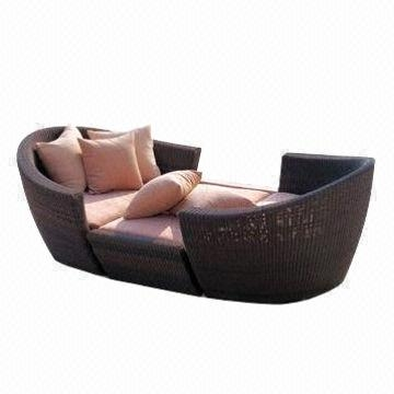 Outdoor Sun Loungerlounger Sofa Bed Made Of Rattan With 12mm Regarding Sofa Lounger Beds (#8 of 15)