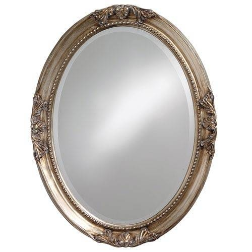 Oval Antique Mirror | Bellacor For Silver Oval Mirrors (#16 of 20)