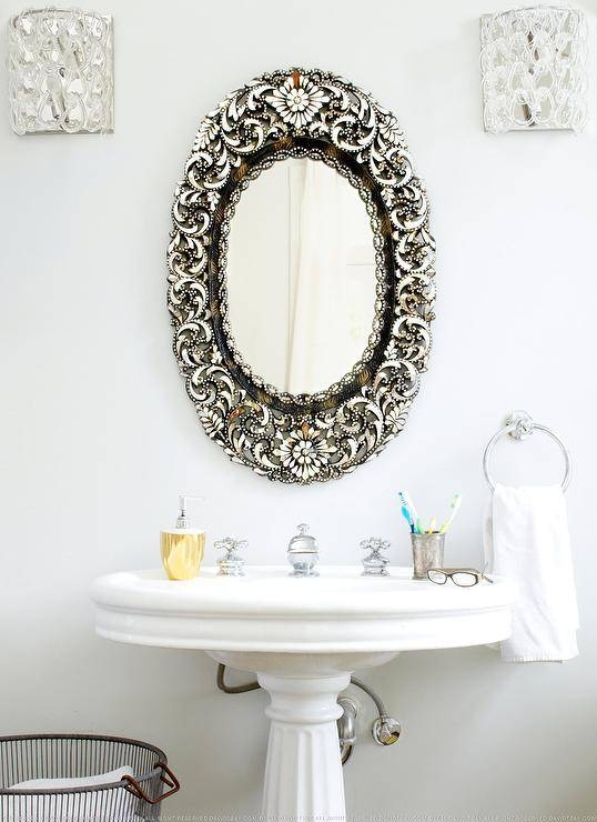 Oval Bathroom Mirror Design Ideas Throughout Antique Mirrors For Bathrooms (View 18 of 20)
