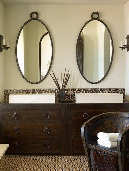 Oval Bathroom Mirror Design Ideas Within White Oval Bathroom Mirrors (#17 of 20)