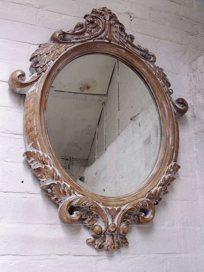 Oval Bevelled Ornate Mirrorhand Crafted Mirrors For Bevelled Oval Mirrors (#17 of 20)