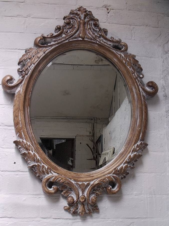 Oval Bevelled Ornate Mirrorhand Crafted Mirrors In Bevelled Oval Mirrors (#18 of 20)