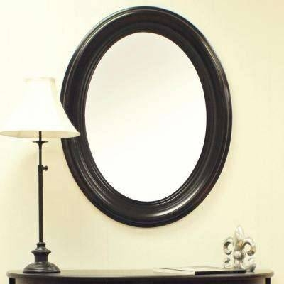 Oval – Black – Mirrors – Wall Decor – The Home Depot Throughout Black Oval Wall Mirrors (View 6 of 20)