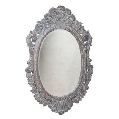 Oval Carved Wood Framed Wall Mirror – Shop Furnishmyway With Vintage Wall Mirrors (#11 of 20)