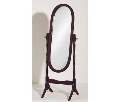 Oval Cheval Floor Standing Mirror In Mahogany 601 Furniture With Free Standing Oval Mirrors (#18 of 20)