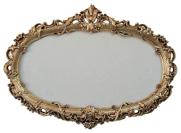 Oval Decorative Frame For Mirrors – Traditional – Wall Mirrors Throughout Oval Mirrors For Walls (View 18 of 20)