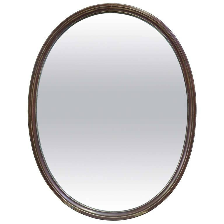 Oval Mirror In A Copper Frame – France, 19Th Century | Xavier Nicod With French Oval Mirrors (#27 of 30)