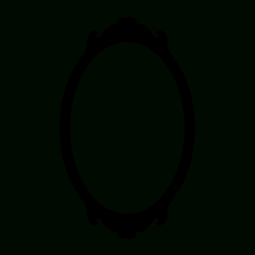 Oval Mirror (Mirrors) Icon #060146 » Icons Etc In Black Oval Mirrors (#25 of 30)