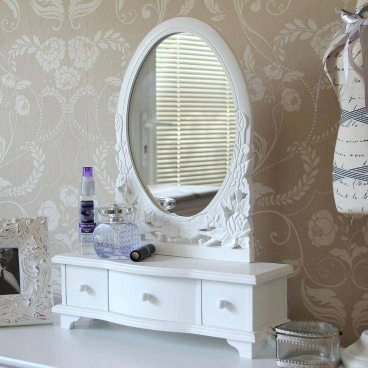 Oval Mirror Previous Next Nextsolid Pine White Free Standing In Free Standing Dressing Table Mirrors (#25 of 30)
