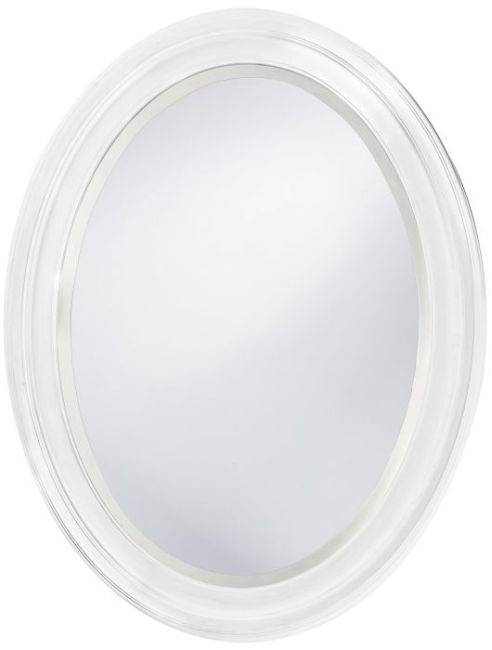 Oval Mirror With Wood Frame, White Oval Bathroom Mirror White In Oval White Mirrors (#23 of 30)