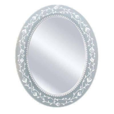 Oval – Mirrors – Wall Decor – The Home Depot Pertaining To Oval White Mirrors (#21 of 30)